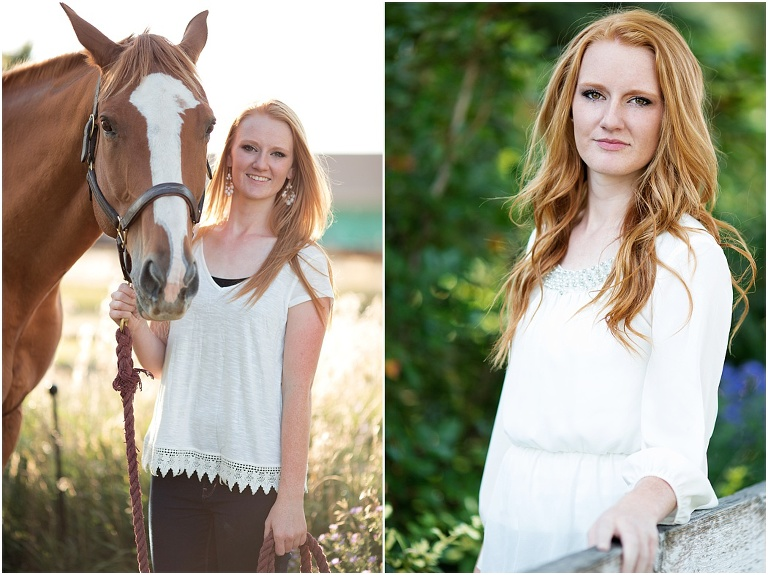 highschool senior girl with horse colorado photographer