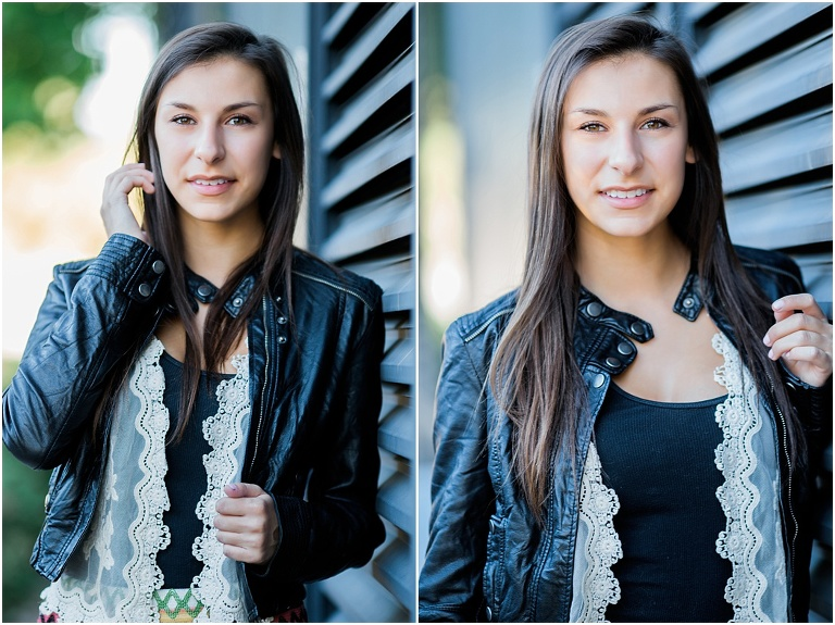 brunette Denver high school senior photography
